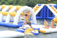 TUV Certification Inflatable Floating Water Park For Lake / Resort