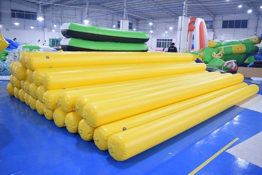 4.5m Long Inflatable Swim Buoy For Pool / Inflatable Tube With Anchor Ring