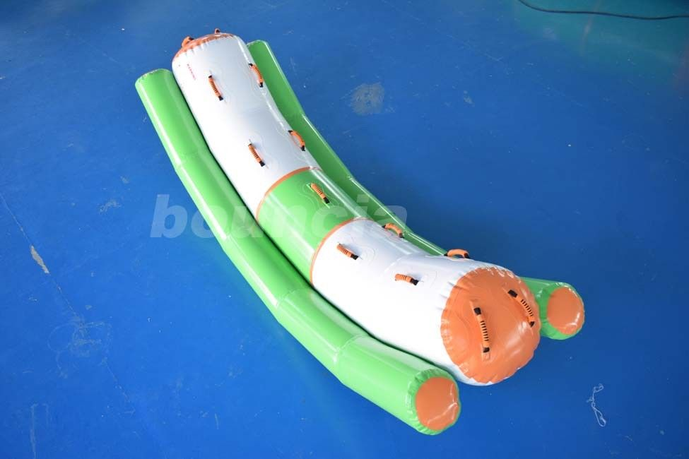 Inflatable Water Totter Used In Water Park Or Swimming Pool