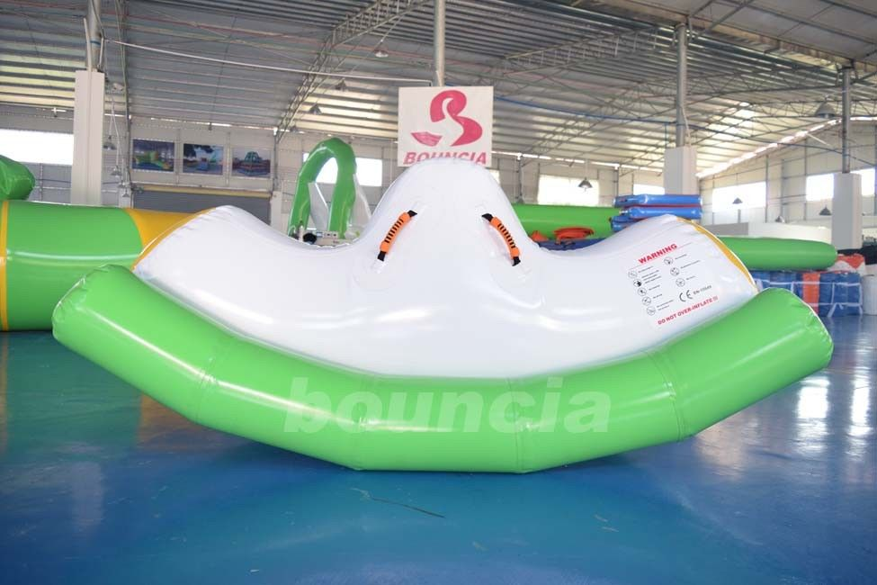 0.9mm PVC Tarpaulin Inflatable Water Totter / Inflatable Water Seesaw For Pool