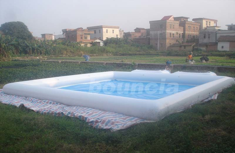 White Square Outdoor Inflatable Water Pool For Water Walking Ball