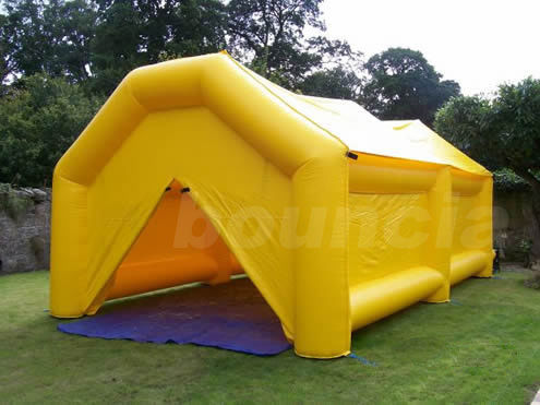 0.9mm PVC  Yellow Color PVC Tarpaulin Inflatable Camping Tent