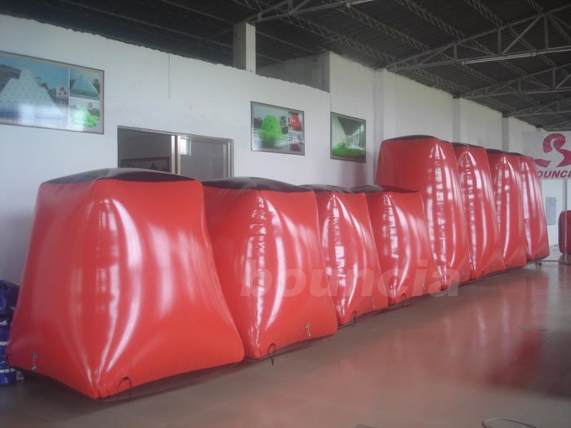 Red Paintball Field Equipment Inflatable Paintball Bunker BUN05