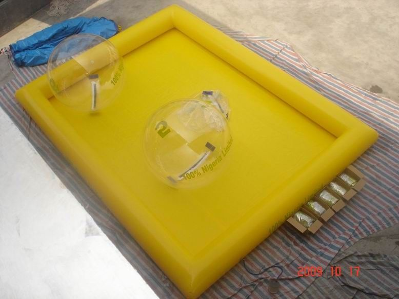 Inflatable Water Pool For Water Ball , Inflatable Water Pond With Durable PVC Tarpaulin