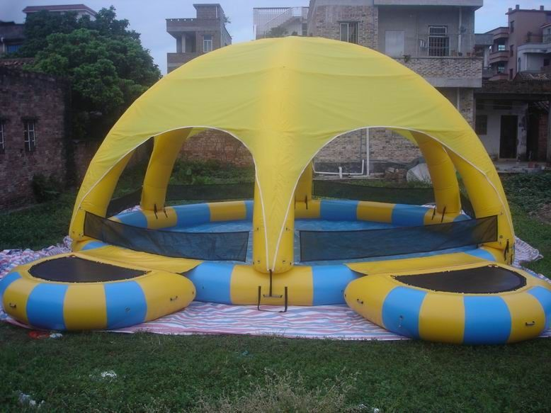 Inflatable Water Pool With Tent / Inflatable Water Ball Pool For Party