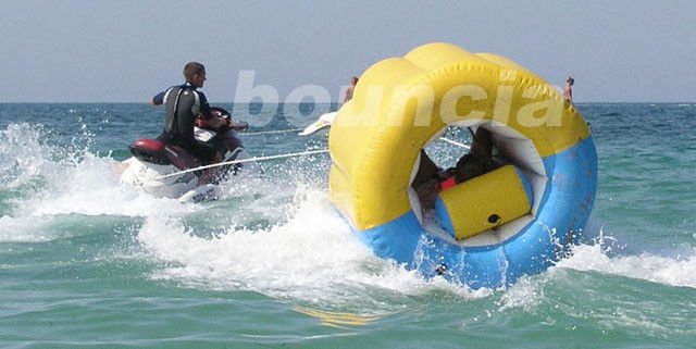 Commercial Grade Inflatable Towable Tube Used In Lake or Sea