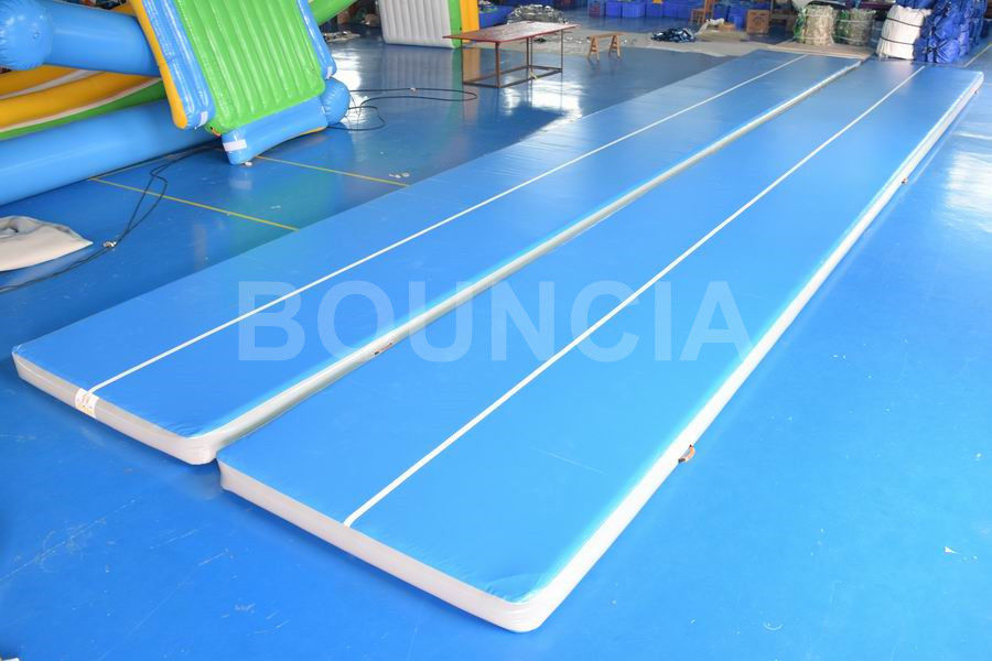 15mL Blue Gymnastics Air Track , Air Mattress Gymnastics With Durable Handles